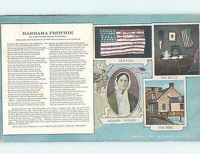 Divided-Back Suffrage BARBARA FRITCHIE - FAMOUS AMERICAN WOMAN HM6901