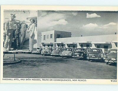 Unused 1940's MARSHALL APARTMENTS Truth Or Consequences New Mexico NM hn2078