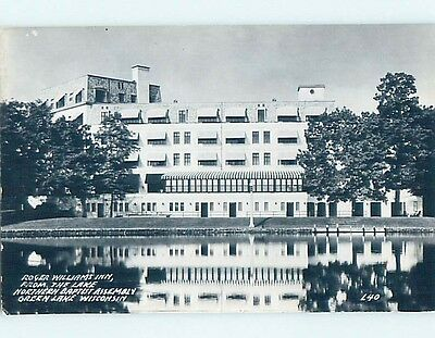 Pre-1950 rppc ROGER WILLIAMS INN HOTEL Green Lake Wisconsin WI HM3706
