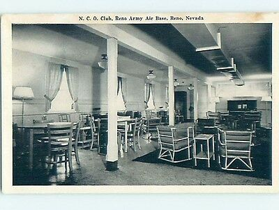 1945 Military NCO ARMY BASE CLUB Reno Nevada NV hn6288