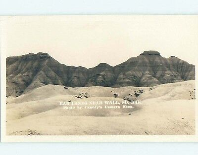 Pre-1949 rppc BADLANDS SCENE Wall South Dakota SD HM3315