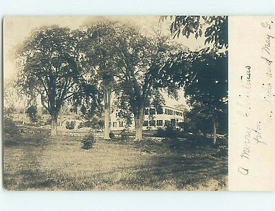 Pre-1930 rppc HOUSE BEHIND THE BIG TREES Marked Buxton Maine ME HM3263