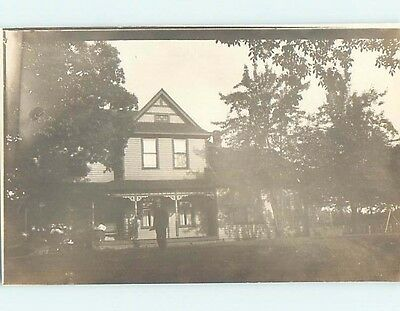 Pre-1918 rppc Architecture TWO-STORY HOUSE Marked Lafayette Indiana IN HM3098