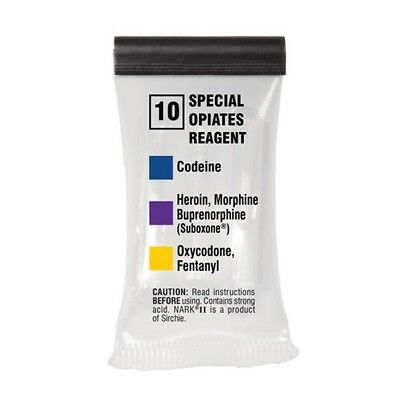 Sirchie NARK20010 NARK II Special Opiates Reagent for Heroin/Oxycodone 10 Pack