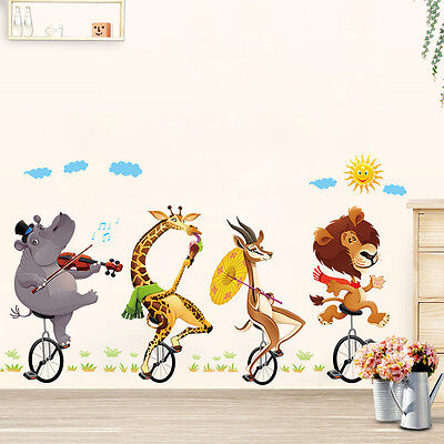 animals zoo waterproof removable wall sticker decal for baby room vinyl wall decals baby rooms designs
