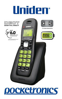 Uniden DECT 1615 BLACK Handsfree Speakerphone Digital Quality cordless phone NBN