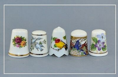 5 X Thimbles 'thimble Collectors Club""