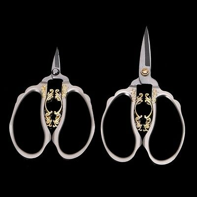 Floral Scissors Nail Cutters Stainless Steel Embroidery Sewing Shears DIY Tool