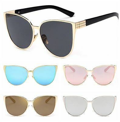 Vintage Retro Women Cat Eye Sunglasses Shades Oversized Designer Glasses Eyewear