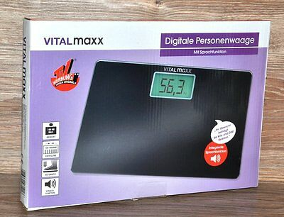 Digital Scale with Voice Function Black VitalMaxx from TV Advertising NEW