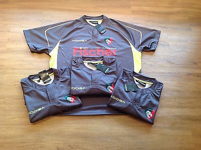 """Leicester Tigers. Match Day Training Rugby Shirts. X4  3XL. 28"""" Pit 2 Pit."""