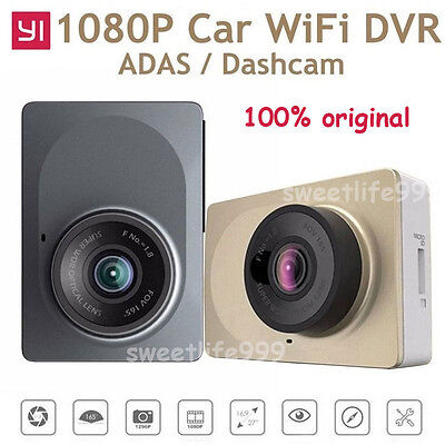 "100% Original 1080P Xiaomi Yi Smart Car DVR WiFi 165° Dash Cam 2.7"" Camcorder"