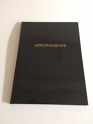 Shiny Black 6 column Appointment Book - 8am - 8:45pm - Hairdressers, Beauticians