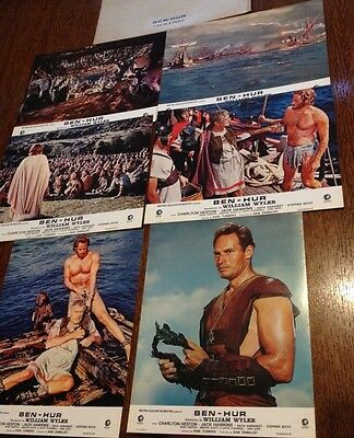 Lot - Jeu De 6 Photos Cinema - Ben Hur - Charlton Heston - Jack Hawkins