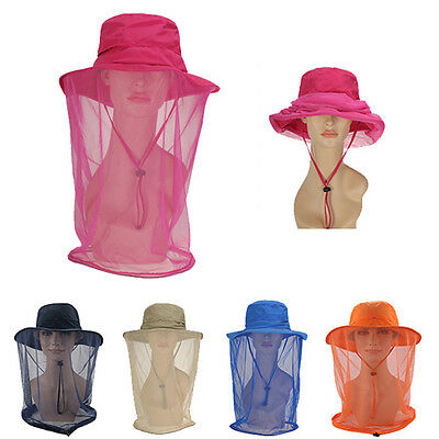 Sun Hat with Mosquito Resistance Bug Mesh  Head Net Face Outdoor Fishing Camping