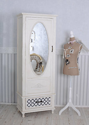vintage w scheschrank kleiderschrank shabby chic weiss retro antik eur 349 99 picclick de. Black Bedroom Furniture Sets. Home Design Ideas