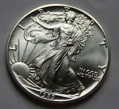 USA Dollar $1 1989 31g .999 Fine SILVER Eagle