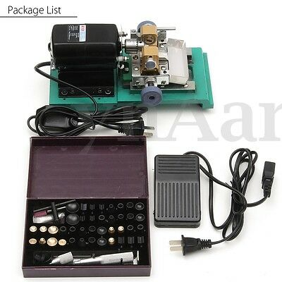 220V 240W Pearl Drilling Holing Machine Driller Hole Full Set Jewelry Punch Tool