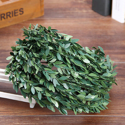 7.5m Meadow natural leaf wire rattan flower green leaves hand wreath decoration