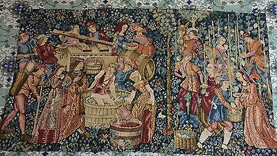A SUPERB Antique French Tapestry - 71 By 121 Cm