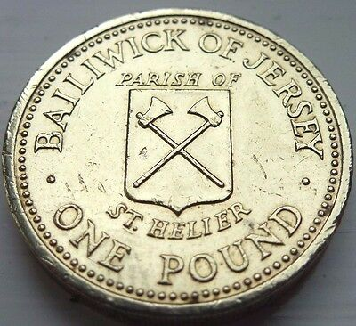 1983 Bailiwick of Jersey Parish of St. Helier £1 One Pound Coin hunt