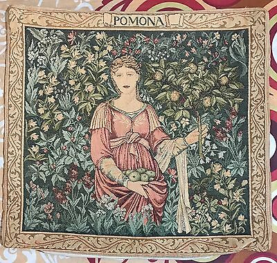 """Antique French Tapestry, Cushion 17"""" By 18"""""""