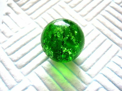 ANTIQUE MARBLE HANDMADE GERMAN GREEN MICA WITH CORE COLOUR BAND 1850 - 1870 19mm