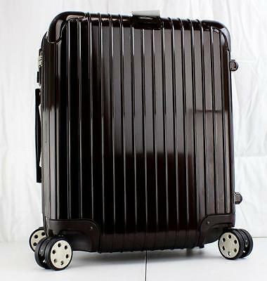Rimowa Salsa Deluxe Cabin 56 Multiwheel Carry On Suitcase Brown