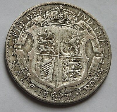 Halfcrown George V 1925 .500 silver