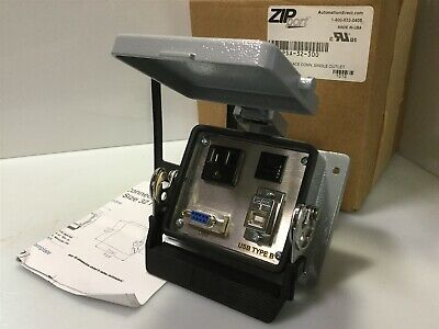ZIPport ZP-PSA Panel Interface Connector 120VAC Outlet DB-9 USB 3A Breaker *NIB