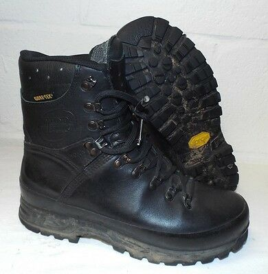 MEINDL BLACK LEATHER MFS COMBAT BOOTS - Believed to be size 9 , British Army