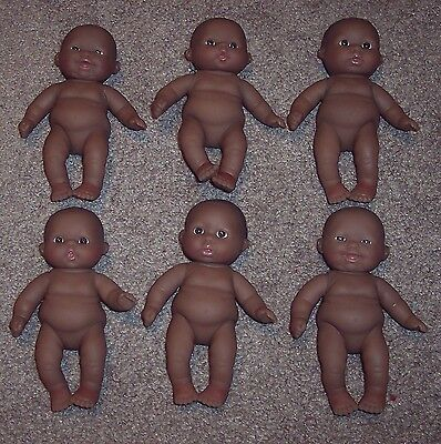 """NEW 6 Berenguer Doll Lots To Love Babies 5"""" AA Ethnic Chubby Dolls Nude No Box"""