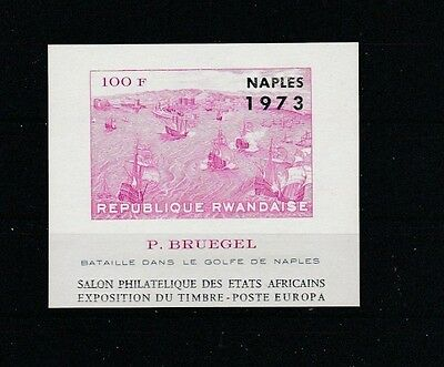 Ruanda Block 35 B** - Briefmarkenausstellung NAPLES '73 (FH760)