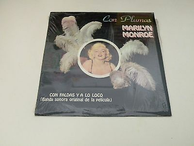 MARILYN MONROE Con Plumas - LP 1982 LIBERTY RECORDS MADE IN SPAIN - NM/EX--