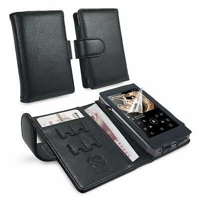 Tuff-Luv Faux Leather Case Cover for FiiO X5 iii 3rd Gen - Black