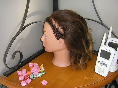 Lot Of 5 Practise Hair Styling Heads Dannyco Used All Brunette