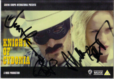 Muse Hand Signed Knights Of Cydonia Autographed Promo Postcard