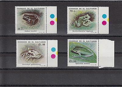 Timbre Stamp  4  Salvador Y&t#1104-07 Grenouille Frog Neuf**/mnh-Mint 1991 ~A07
