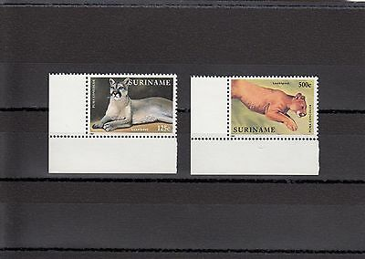 Timbre Stamp  2  Suriname Y&t#100-01 Felin Puma Neuf**/mnh-Mint 1991 ~A07