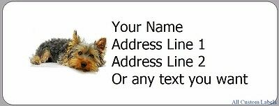 Cute Baby Yorkie  - 30 Personalized Return Address Labels Dogs