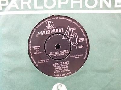 """SIMON SCOTT """" MOVE IT BABY """" Or.UK PARLOPHONE EX COND. IN Or. SL."""