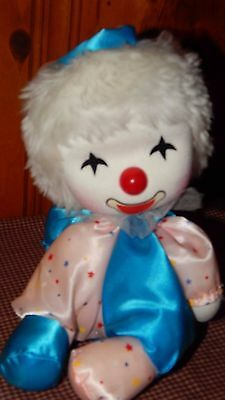 """Vintage Clown Doll Musical Box From Japan Works Plays Endless Love 7"""" Satin EUC"""