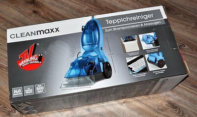 Carpet Cleaner by cleanmaxx Ice Blue Professional Carpet Extractor NEW
