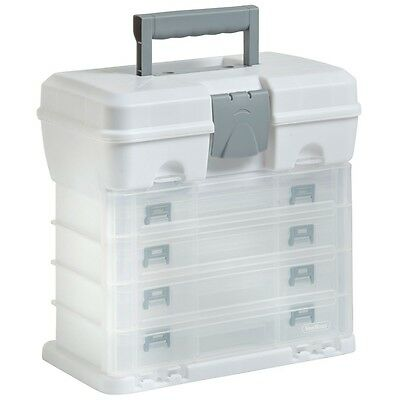 4 Layer Sea Fishing Tackle - DIY - Sewing Storage Carry Case White