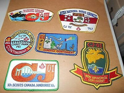 (Yl3-J) Fifteen Different 10Th & One 11Th Canadian Jamboree Scout Badges