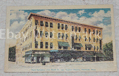 PITTSFIELD MASSACHUSETTS MA Hotel Bershire Embossed Vintage Postcard