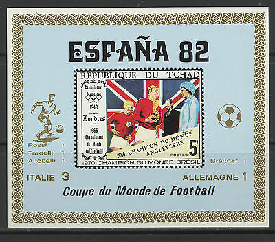 Tchad, Football World - España 1982 - Final: Allemagne / Italie - Oro