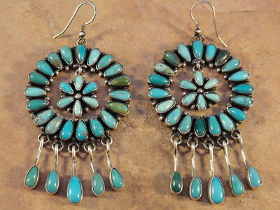 Emma Lincoln Navajo Sterling Silver & Turquoise Earrings