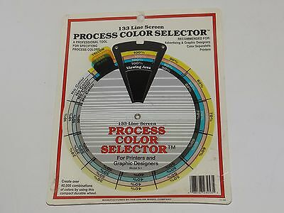 New 133 Line Screen PROCESS COLOR SELECTOR Wheel GRAPHIC DESIGN/PRINTING Tool