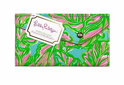 LILLY PULITZER SUNGLASS CASE IN THE BUNGALOW Collapsible Fits Large Sunglasses